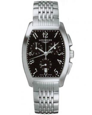 Longines Evidenza Chronograph, steel bracelet, black dials with Arabic