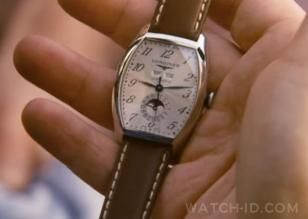 Close up of the Longines Evidenza in the first scene of the movie