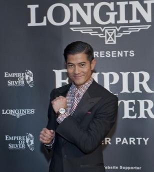 Aaron Kwok received a Master Collection Retrograde watch from Longines during th