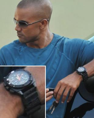 Derek Morgan (played by Shemar Moore) wears a black MTM Special Ops Black Patrio
