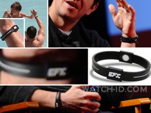 Mark Wahlberg often wears his Timex together with an EFX silicon sports bracelet