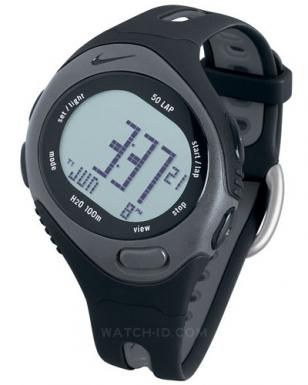 Nike Triax Speed 50 Super Watch, WR0129-001 black and grey