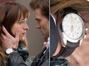 Jamie Dornan is wearing an Omega Aqua Terra 150m Co-Axial Chronograph 231.13.44.50.02.001 in the movie Fifty Shades of Grey (2015).