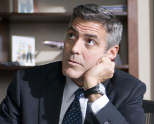 George Clooney wearing an Omega DeVille in the movie Up in the Air: