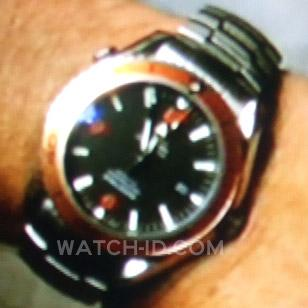 A close up of Mark Harmons Omega Seamaster Planet Ocean in Episode 6 of Season 6