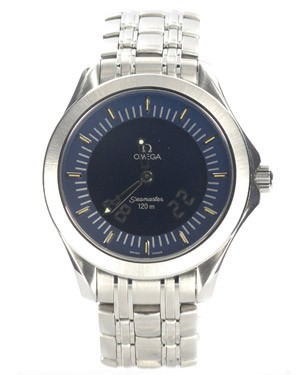 Omega Seamaster 120m 2521.81.00, with analog and digital screen.
