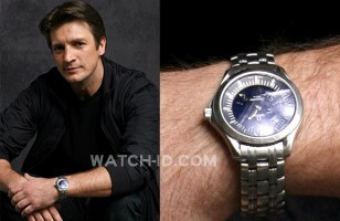 The Omega Seamaster 120m watch in a promotional photo for Castle