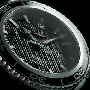 The Limited Edition features a textured black dial plus a fine Quantum of Solace
