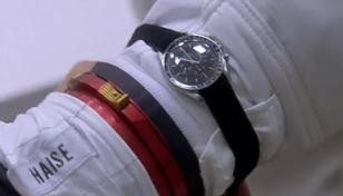 An Omega Speedmaster with velcro band, in the movie Apollo 13