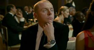 Simon Pegg wearing the Omega Speedmaster Professional in the movie How to Lose F