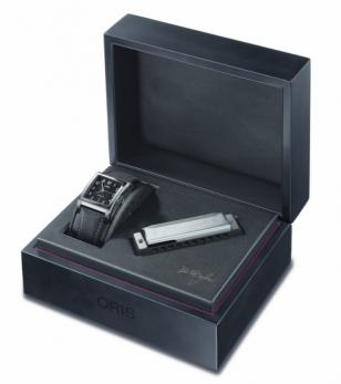 The special Oris presentation box includes a mini Hohner Marine Band harmonica –