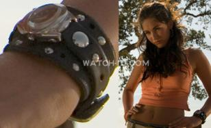 Megan Fox wearing a Red Monkey Ladies' Barracuda Jetson wristwatch in the movie