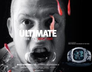 Australian surf champion Mick Fanning in an advertisement for this exact watch.