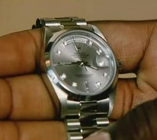 Close up of the Rolex Oyster Perpetual Day-Date in the movie He Got Game