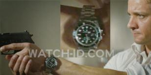 Jeremy Renner, as Brandt, wears a Rolex Submariner in Mission: Impossible - Ghos
