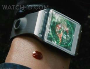 The Samsung Galaxy Gear on the wrist of Brian Tee in Jurassic World