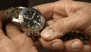 The Kobold Arctic Diver watch worn by Steve Austin has a custom paracord strap