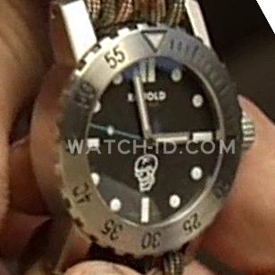 Close-up of the watch worn by Steve Austin in Hunt to Kill