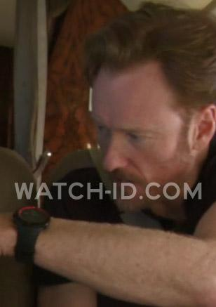 Conan O'Brien wears a Suunto Core Extreme Edition Red.