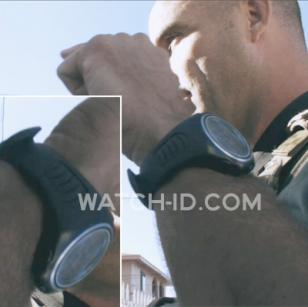 An Suunto X6HR on the wrist of a military policeman in End of Watch