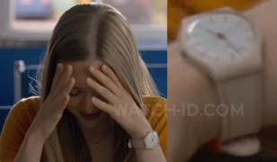 Actress Amanda Seyfried wears a Swatch Soft Day GT 106T watch in the movie Ted 2.