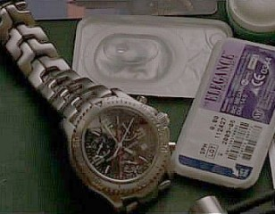 Close up of the TAG Heuer Link Chronograph in the movie The Bourne Identity