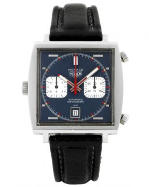 The original Heuer Monaco, worn by Steve McQueen on a photo taken for a recent a