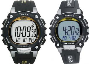 Timex Ironman Traditional 100-Lap with FLIX technology, T5E231 9J (notice the ye