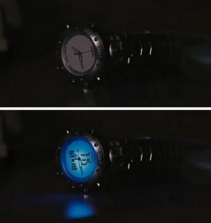 The Timex Ironman Dual Tech watch in the movie Stranger Than Fiction lights up w