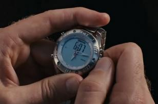 Will Ferrell setting his Timex Ironman Dual Tech in Stranger Than Fiction