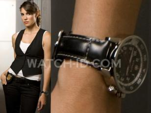Daniela Ruah wears a Wenger Commando GMT 74745 Swiss Army watch on this promotio
