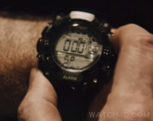 The Armitron watch get's a good close-up shot in the film which made it relatively easy to identify