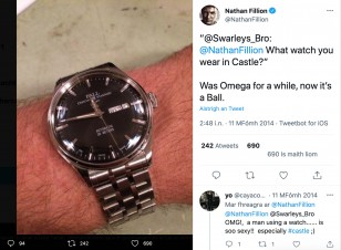 The post about the Ball watch on Twitter