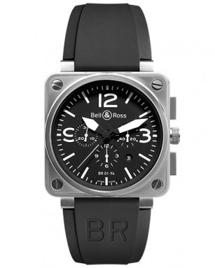 Bell & Ross BR 01-94 wristwatch, a similar model to the one seen in the film.