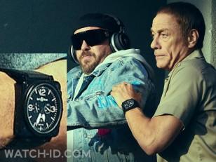 Jean-Claude Van Damme wears a black Bell & Ross BR01-94 Carbon watch in the Netflix film The Last Mercenary.