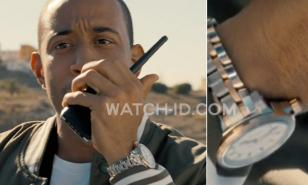 Ludacris (as Tej Parker) wearing the watch in the movie fast & Furious 6