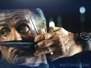 Sylvester Stallone wears a black Carl F. Bucherer ScubaTec watch in the latest 2019 movie Rambo: Last Blood.