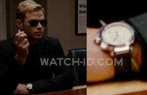 In the film Syrup, Kellan Lutz wears a Cartier Pasha with white dial and long-sh