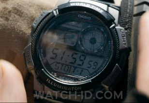 Armie Hammer wears a Casio AE1000W-1BV in the 2017 movie Mine.
