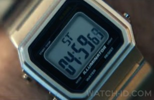 In one trailer online, the Casio logo and some other elements were digitally removed