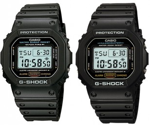 Casio G-Shock DW-5600E-1: compare the Japanese market model (left) with the International model (right)