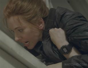 Florence Pugh as Black Widow wears a Casio G-Shock DW5600BB in Black Widow.