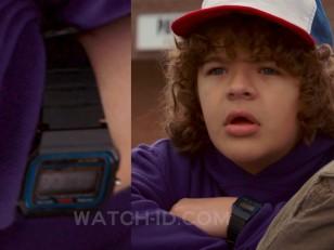 Gaten Matarazzo wears a Casio F-91W watch in the Netflix series Stranger Things.