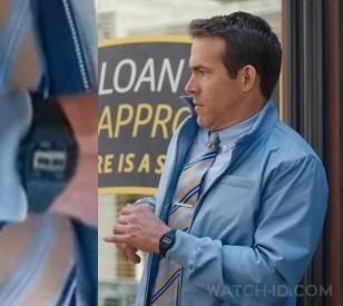 It looks like Ryan Reynolds is wearing a Casio F-91W watch in Free Guy.