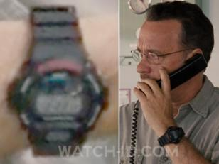 The Casio G-Shock DW6900-1V can clearly be spotted on the wrist of Tom Hanks in