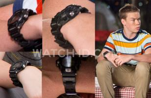 In We're The Millers, Kenny (Will Poulter) wears a Casio G-Shock GW9200-1 watch.
