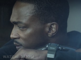 "The words ""Vibe Resist"" and other details of the Casio watch can be seen in this screenshot from the film"