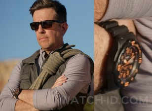 Ed Helms wears a Casio MRW-200H-4B watch in the 2019 movie Corporate Animals.