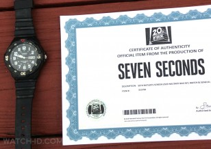 The screenworn Casio MRW200H-1BV watch from the Netflix Original Series Seven Seconds with certificate.
