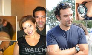 The Casio on a photo (left) tweeted by his wife Justina Machado and Ricardo wear